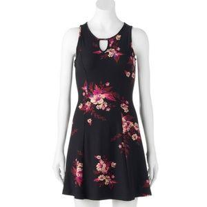 Mudd floral fit & flare dress